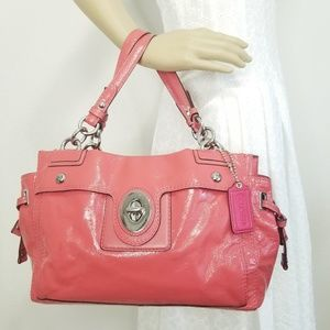 Rare Coach Peyton Carryall Patent Leather Satchel